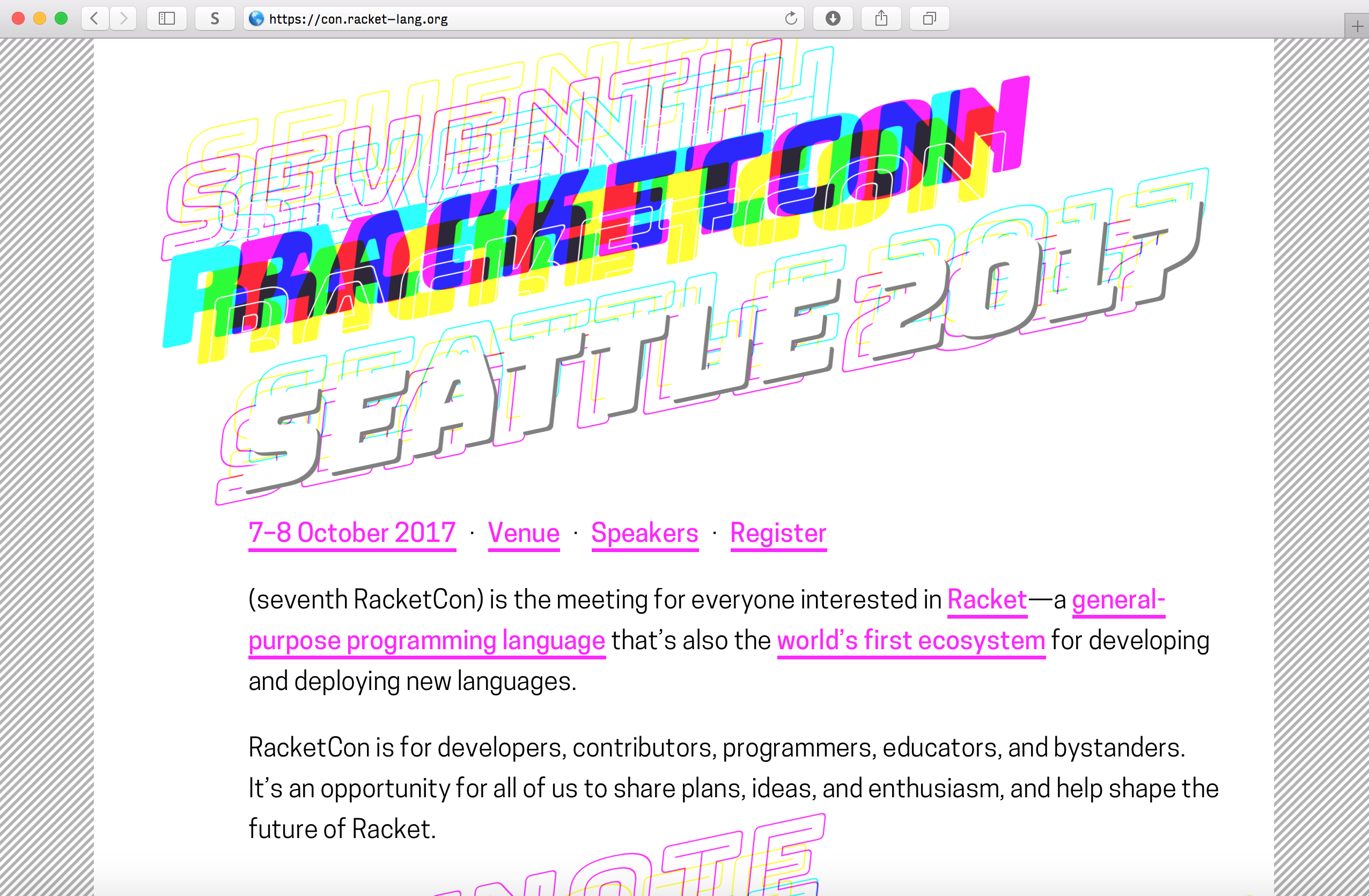 Bungee on RacketCon website