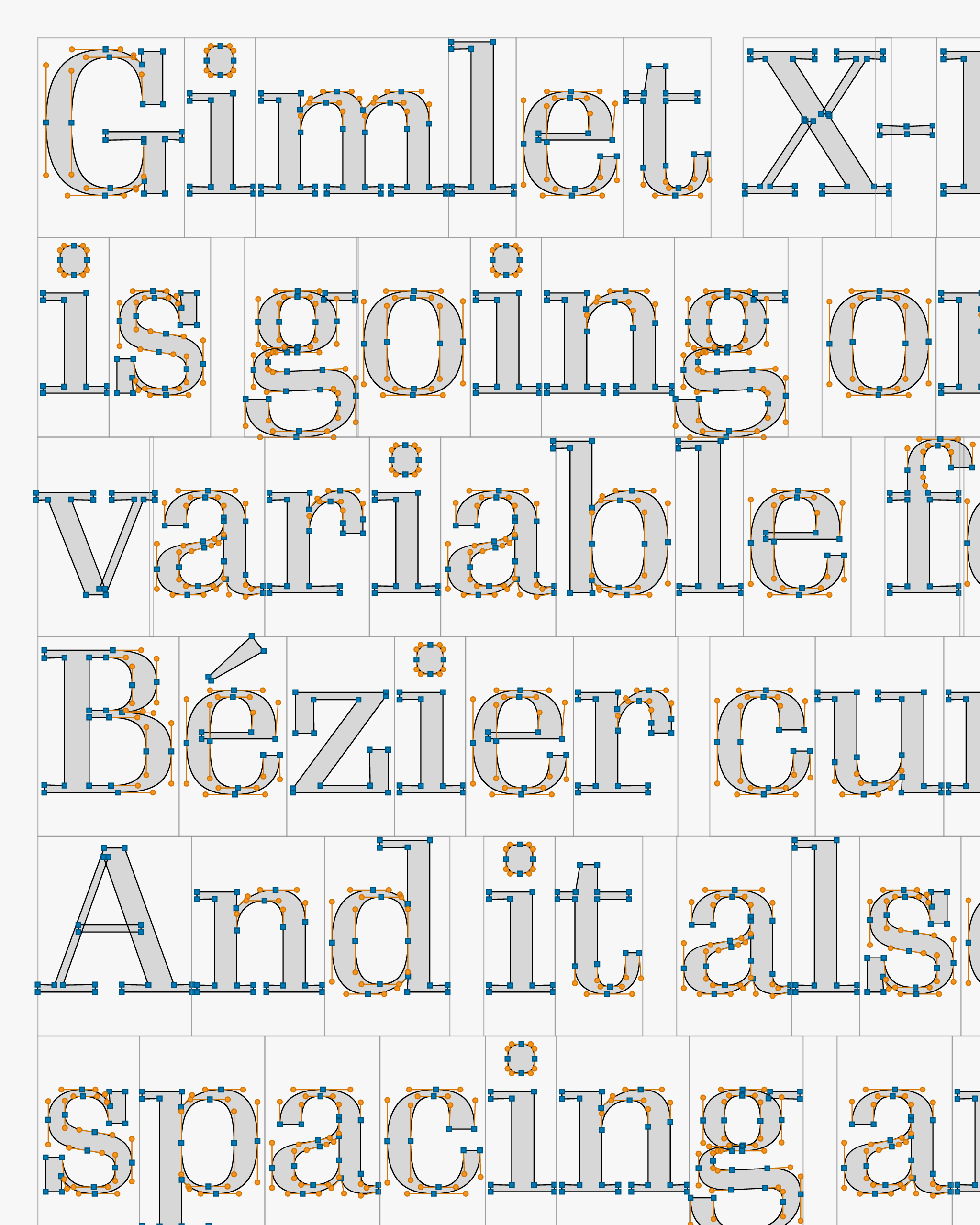Gimlet X-Ray text